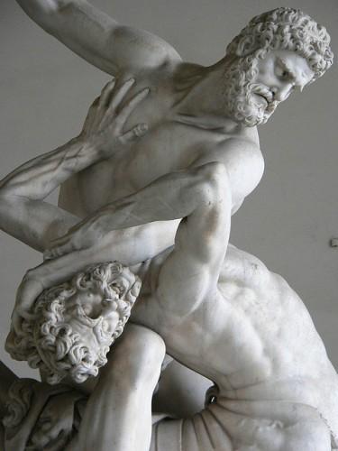 """ Hercules Battling the Centaur Nessus by Giovanni Bologna 1599"" by  Mary Harrsch. CC-BY-NC-SA"