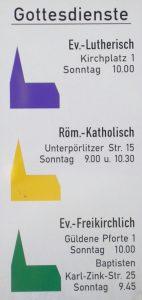 "Michael Sander (https://commons.wikimedia.org/wiki/File:Gottesdienste_Ilmenau.JPG), ""Gottesdienste Ilmenau"", beschnitten, https://creativecommons.org/licenses/by-sa/3.0/legalcode"